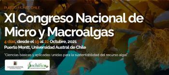 Anuncio de nueva Fecha del XI Congreso Nacional de Micro y Macroalgas SOCHIFICO